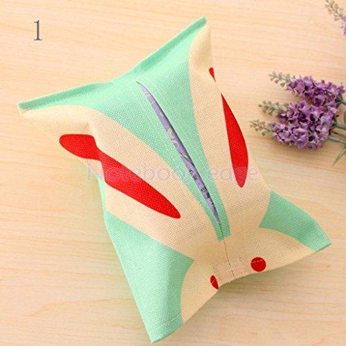 Cartoon Animal Tissue Paper Storage Box Cotton Linen Napkin Cover Holder 8 Color Type 1
