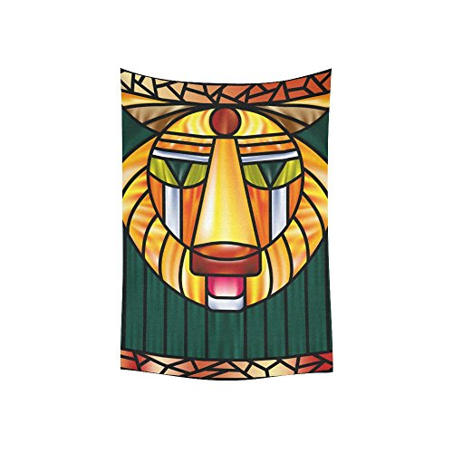 ADEDIY Fashion Custom Tapestry Head of a Lion Cotton Linen Wall Hanging Tapestry 60x40 IN Home Decor Gallery Art