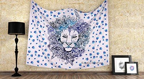 Indian Mandala Tapestry Throw Bohemian Decor Bedspread Hippie Tribal Rasta Lion Wall Hanging 82x90