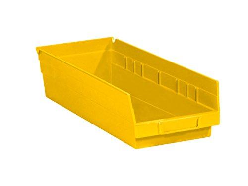 RetailSource 17 78 x 6 58 x 4 Yellow Plastic Shelf Bin Box