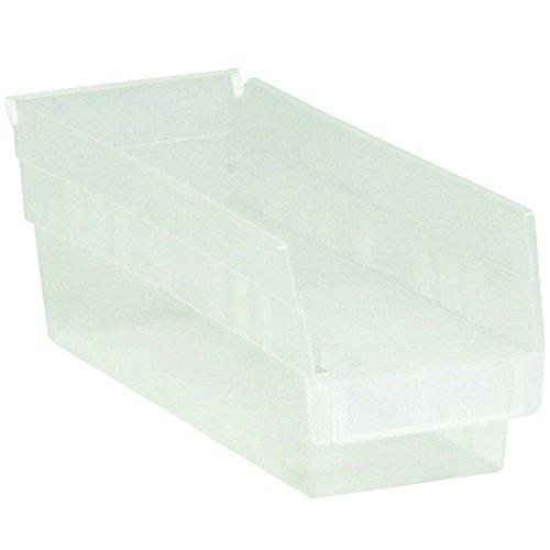RetailSource BINPS104CLx1 11 58 x 8 78 x 4 Clear Plastic Shelf Bin Box 11625 Length 4 Height 8375 Width
