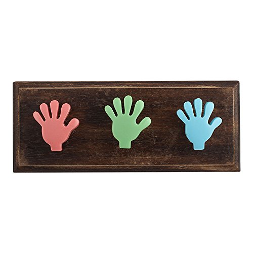 Multicolor Fingers Resin Wooden Wall Hooks Cabinet Coat Hat Key Clothes Mugs Holder Handmade Online IndianShelf