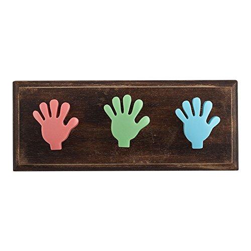 Multicolor Fingers Resin Wooden Wall Hooks Cabinet Coat Hat Key Clothes Mugs Holder Handmade Online IndianShelf
