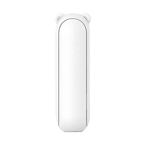 Tharv❤Mini Portable Fan USB Handheld Fan Folding Rechargeable Mini Bear Storage Fan White