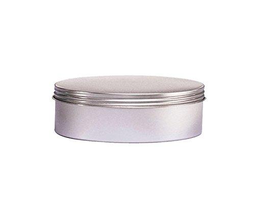 Cafe Cubano 4oz Screw Top Tins - Set of Food Grade Airtight Tin Containers with Screw Top Lids Flat Round Tin Can Containers with a Thread Cap Tight Seal 12