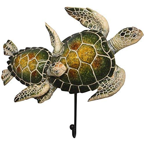 Comfy Hour 5 Turtle Coastal Ocean Theme Decorative Wall Hanger