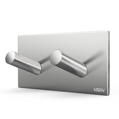 VISEN adhesive wall hanger towel hook for clothes coat hat key bath hooks and headphones Type-2 Hook