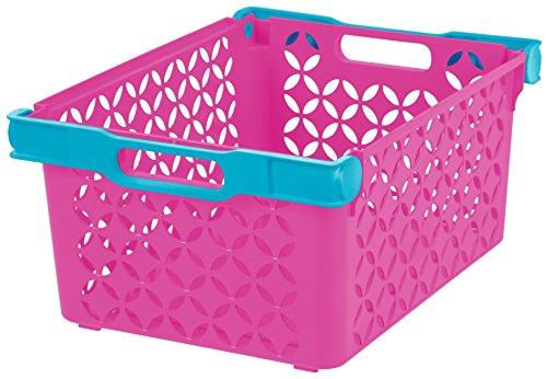 IRIS Girls Large Decorative Basket 8 Pack