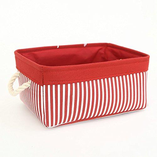 TcaFmac Canvas Storage Bin Small Decorative Fabric Storage Basket Bin Canvas Toy Storage Organizer Baby Laundry Basket