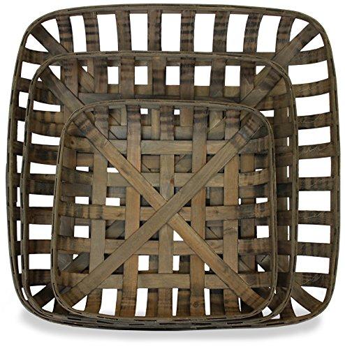 Tobacco Baskets Set of 3 Medium Large XLarge  by Urban Legacy