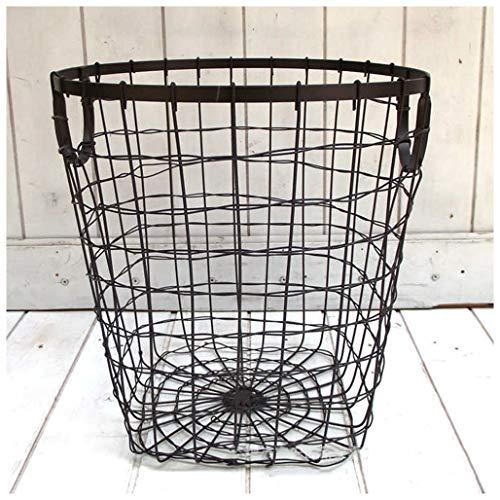 YU-Storage Laundry Basket Hamper Metal Wire Woven Storage Bins Stylish Clothes Toys Bathroom Storage Box Bathroom Laundry Room