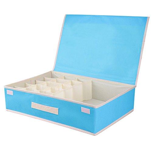 CSTG Foldable Cloth Storage Box Bra Underwear Socks Closet Dresser Drawer Divider Organizer Basket Container