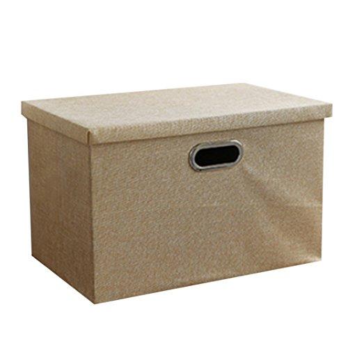 Decorative Boxes XSHION 3-Tier Clothes Storage Container Drawer Type Desk Organizer Storage Case with Lid Beige Medium