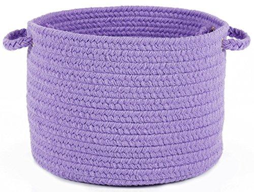 Fun Braids Solid Violet 14 x 10 Basket