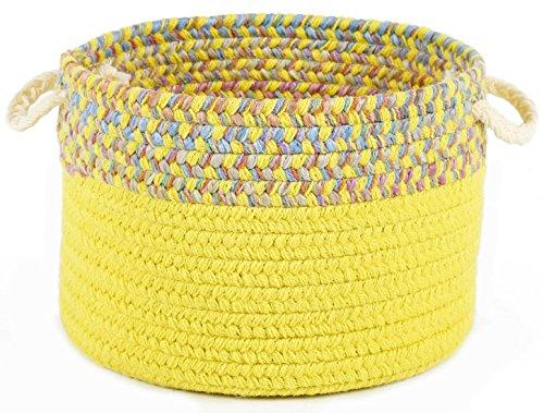 Kidding Yellow Banded 14 x 10 Basket