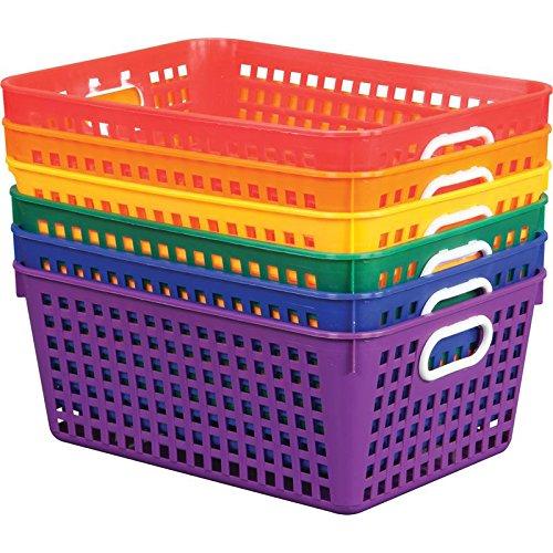 Multi Purpose Plastic Storage Baskets -13x 10 Assorted Colors - Set of 6