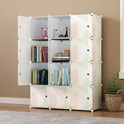 KOUSI Portable Storage Shelf Double Resin Toy Storage Toy Chest DIY Cube Storage Environmental Friendly partable Storage Organizer 14x1412 Cubes