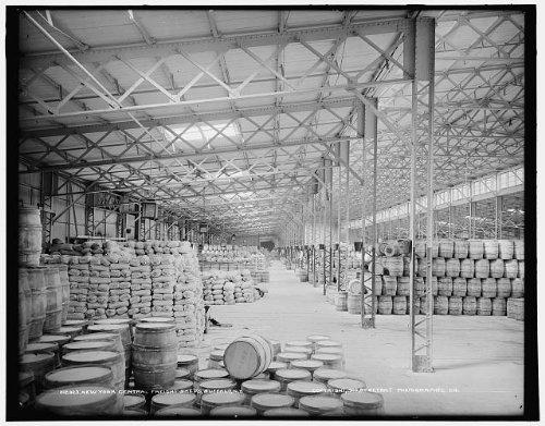 Photo New York Central freight shedswarehousesstorageBuffaloNew YorkNYc1900