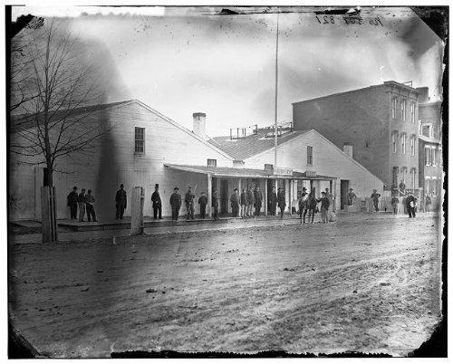 Photo Quartermaster warehousestoragecrowdWashington DCUnited States Civil War1865
