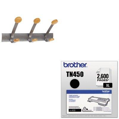 KITABAPMV3BRTTN450 - Value Kit - Alba Wooden Coat Hook ABAPMV3 and Brother TN450 TN-450 High-Yield Toner BRTTN450