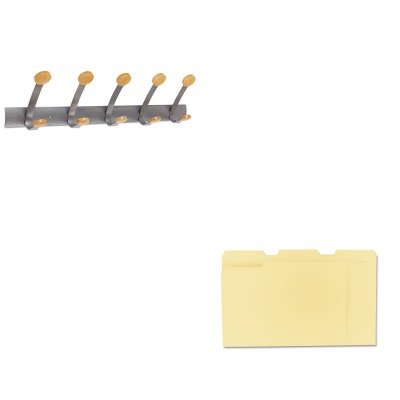 KITABAPMV5UNV12113 - Value Kit - Alba Wooden Coat Hook ABAPMV5 and Universal File Folders UNV12113