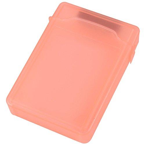 Zeroyoyo Portable 35 inch IDESATA HDD Storage Protection Boxes Hard Drive Disk Storage Case Cover Orange