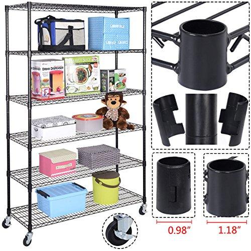 Generic YanHong-US150715-9 8yh0923yh Metal Closet Home Kitchen Garage Unit 6 Shelf Storage 6 Shelf S Garage Unit Shelves Shelving Rack Wire Shelving age Rack Metal Closet