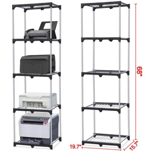 Home Kitchen Office Garage 5-Shelf Storage Rack Wire Shelving Unit Metal Closet