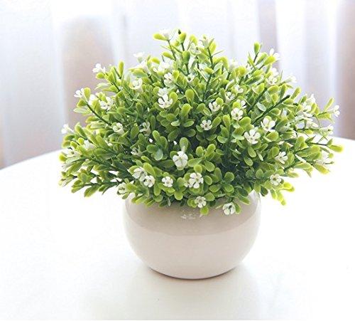 Lqwx Handmade Straw Basket Flowers Set Table Decoration Living Room Decor Small PotO