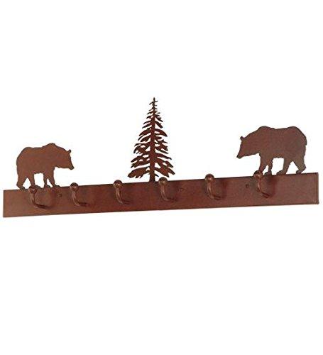 Meyda Tiffany 134606 Bear on The Loose 6 Hooks Coat Rack 36 L