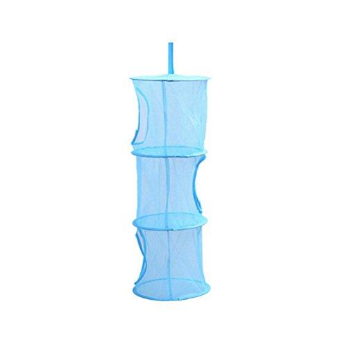 OUNONA Hanging Mesh Storage Basket Net Bra Underwear Socks Organizer Kids Toys Organizer Bag Blue