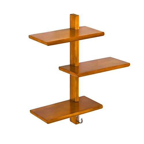 DESTRB Wall Coat Hook Rack Solid Wood Hanger Partition Wall Mount Shelf Coat Rack Shelf Size  1