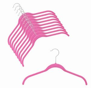 ULTRA-SLIM VELVET SHIRT HANGERS - SET OF 100 - HOT PINK