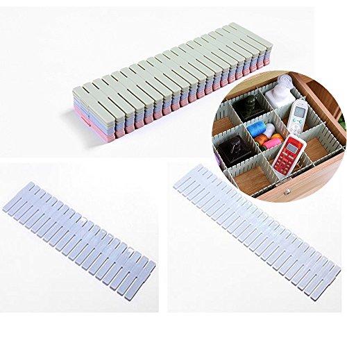 8 Piece DIY Drawer OrganizerDrawer Divider Household Storage for your Baby Clothes Craft Supplies Office Drawer Underwear kitchen Blue
