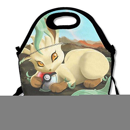 TRYdoo Leafeon Pokemon Handbag Lunch Bags Snack Bags