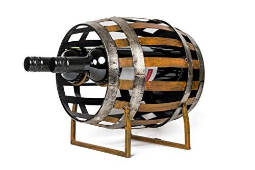 wills Barrel Shaped Wine Bottle Holder Rack