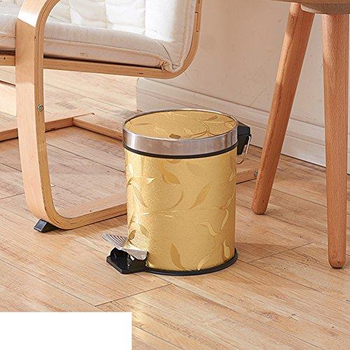 European creative pedal dustbin with lidHome kitchen bathroom foot plastic trash can-B