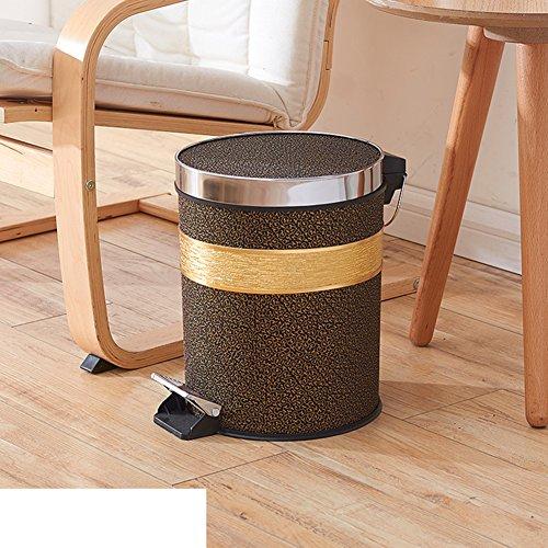 European creative pedal dustbin with lidHome kitchen bathroom foot plastic trash can-U