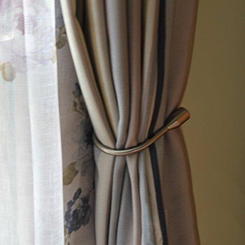 Curtain Holdback Hooks-U Window Curtain Hanger Hook Metal Drape Tieback Arm Hook Decorative Crystal Curtain Tassel U Hook Bronze Wall Curtain Holdback-pack of 2 Brass
