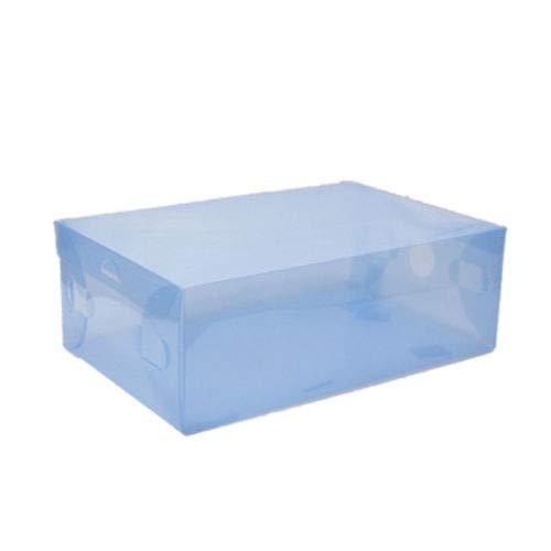 FidgetFidget Clear Plastic Shoe Boxes Storage Stackable Organizer Box Foldable 22 Pcs Blue