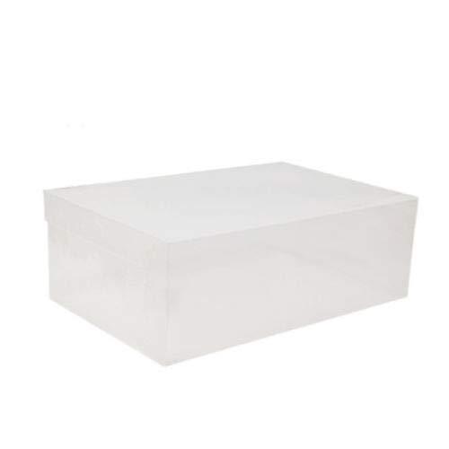 FidgetFidget Clear Plastic Shoe Boxes Storage Stackable Organizer Box Foldable 29 Pcs White