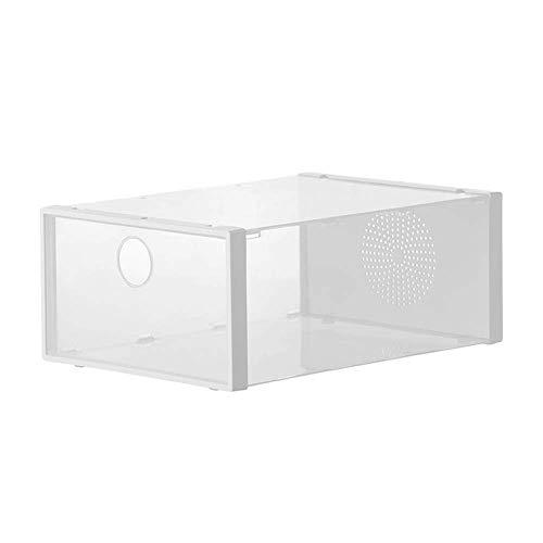 RANRANJJ Shoe-Boxes-Clear-Plastic Shoe Box for Women and Men Size Stackable Shoe Container Closet Shelf Shoe Organizer