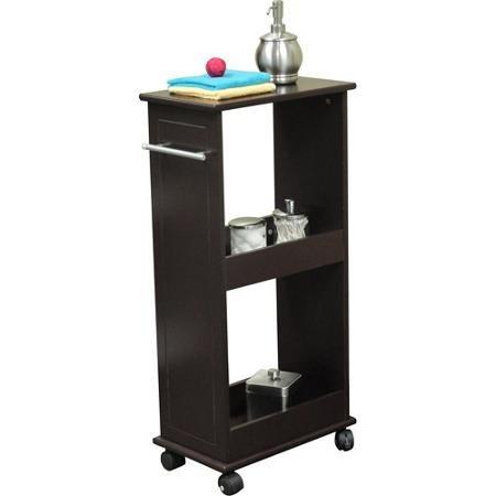 RiverRidge Rolling Cabinet with Shelves Espresso