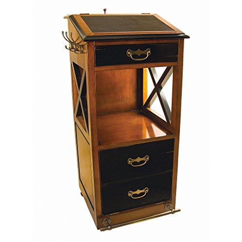 Valet De Chambre Rolling Cabinet Desk 48 Nautical Storage Furniture