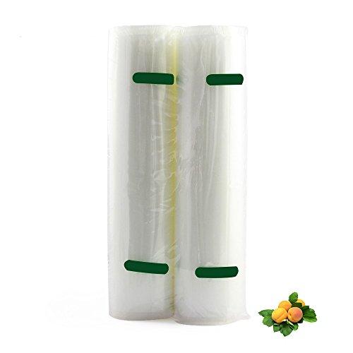 2 Pack Food Vacuum Sealer Bags RollsEALEK 11x197 Inch Commercial Grade Vacuum Sealer Bag Roll Food Storage Saver for FoodSaver and Sous Vide Total 328 Feet