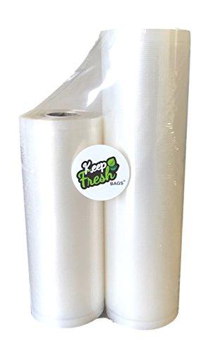 Keep Fresh Bags KF811C Vacuum Sealer Bags 35 Mile2 Roll Combo