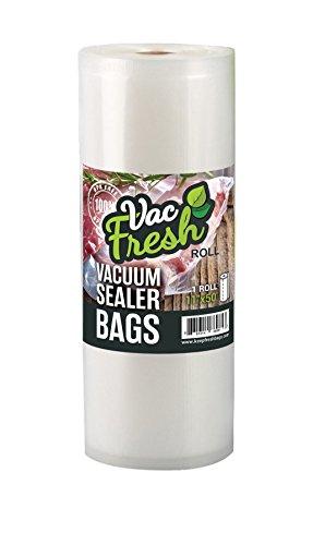 Vac-Fresh Roll 11 x 50 Vacuum Seal Bag 35mil Roll Commercial Grade Embossed for Vacuum Sealers