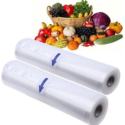 Vacuum Sealer Bags Rolls Kitchen Food Vacuum Sealer Storage Bags 47x164 2Pack Bag 5x197