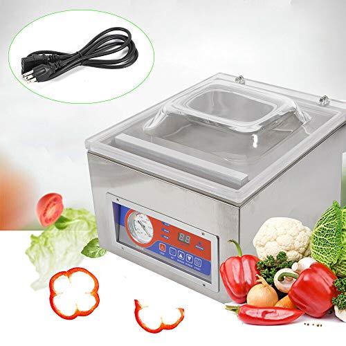 Kitchen Vacuum Sealer Machine 110V Desktop Commercial Vacuum Sealer System Food Saver Sealing Machine Food Chamber Tabletop Seal Vacuum Storage Packaging Machine