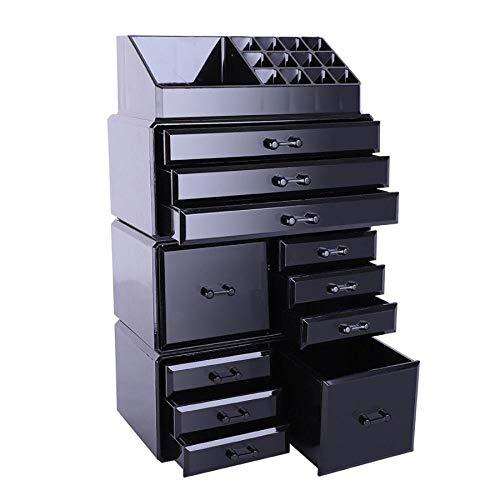 Acrylic Cosmetic Tower Organizer Makeup Holder Case Box Jewelry Storage Drawer